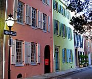 Charleston Houses Art - Pretty Lane in Charleston by Susanne Van Hulst