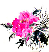 Silk Paintings - Pretty on Silk by Rayne Van Sing