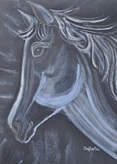 White Horse Pastels Originals - Pretty One by Sally Rice