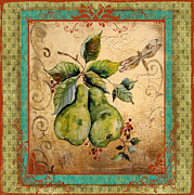 Distressed Mixed Media - Pretty Pears by Jean Plout