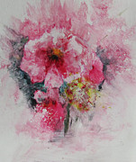 Floral Paintings - Pretty Pink by Marilyn Woods