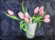 Pretty Pink Tulips Print by Dee Carpenter