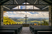 Cross Photo Framed Prints - Pretty Place Chapel - Blue Ridge Mountains SC Framed Print by Dave Allen