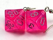 Earrings Jewelry - Pretty Pretty Princess Pink D10 Combination Earrings by World of Dice