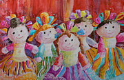 Guanajuato Paintings - Pretty souvenir  by Catalina Rankin