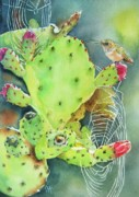 Prickly Framed Prints - Prickly Pair Framed Print by Patricia Pushaw