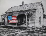4th Of July Mixed Media Metal Prints - Pride Metal Print by Michael Lee Summers