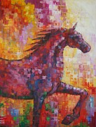 Pride Paintings - Pride of Arabian Horse  by Adel  Al-Abbasi