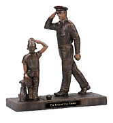 Military Sculptures - Pride of Our Nation - Officer by Eric Westfall