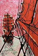 Sailing Ships Mixed Media Posters - Pride of Place Poster by Lowell Devin