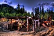 Lumber Prints - Priest Lake Mill II Print by David Patterson