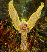 Angels Art - Priestess Of The Woods by Steve Roberts