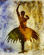 Ballerina Mixed Media Posters - Prima 1 Poster by Angelina Vick
