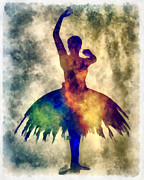 Ballet Mixed Media Posters - Prima 1 Muse Poster by Angelina Vick
