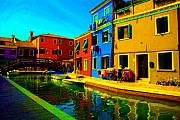 Italy Pastels Framed Prints - Primary Colors 2 Framed Print by Donna Corless