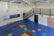 Incline Posters - Primary School PE Building Poster by Photographer Jaak Nilson/ Architect Priit Matsi