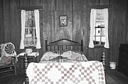 Bed Quilts Prints - Primitive Home Print by Margaret Palmer