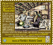 St. Augustine Mixed Media Posters - Primitive Hospital Advanced Medicine Poster by Warren Clark