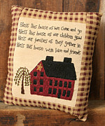 Folk Tapestries - Textiles - Primitive Pillow by Quaker Crafts
