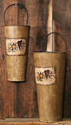 Star Sculpture Originals - Primitive Wall Buckets by Quaker Crafts
