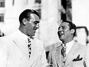 Heavyweight Boxers Prints - Primo Carnera & Max Baer Sr.being Print by Everett