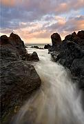 Lava Rock Prints - Primordial tides Print by Mike  Dawson