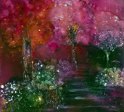 Painted Reveries Prints - Primrose Painting Print by Don  Wright