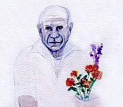 Pablo Picasso Prints - Primroses for Picasso Print by Michaela Akers