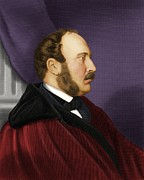 History Of Science Prints - Prince Albert, British Prince Consort Print by Maria Platt-evans