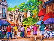 Couples Paintings - Prince Arthur Street Montreal by Carole Spandau