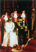 1981 Photo Framed Prints - Prince Charles And Diana Framed Print by Granger
