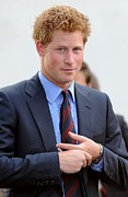 Red Carpet Photo Framed Prints - Prince Harry At A Public Appearance Framed Print by Everett