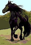Friesian Prints - Prince of Equus Print by George Pedro