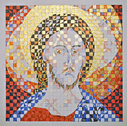Byzantine Drawings Metal Prints - Prince of Peace Metal Print by Maria Cristina Borrero
