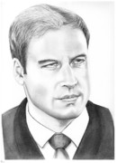 People Drawings Originals - Prince William by Murphy Elliott