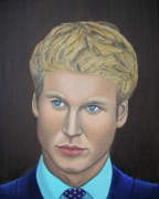 Visual Artist Painting Originals - Prince William Portrait Paintings   by Luigi Carlo