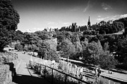 Princes Photo Framed Prints - Princes Street Gardens Edinburgh Scotland Uk United Kingdom Framed Print by Joe Fox