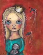 Princess Mixed Media Prints - Princesa Fabiola Print by  Abril Andrade Griffith
