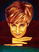 Drawing Pastels Originals - Princess Diana  by Anastasis  Anastasi