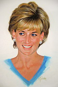 Princess Diana Posters - Princess Diana Poster by Cliff Spohn