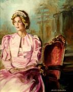 Princess Diana The Peoples Princess Print by Carole Spandau