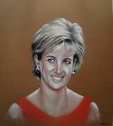 Princess Pastels Posters - Princess Diana Poster by Tony Calleja