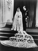 Princess Elizabeth And Prince Philip Print by Everett