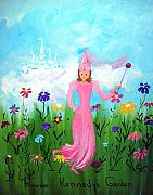 Princess Art - Princess Kennedys Garden by Sandi Stonebraker