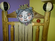 Clay Ceramics Originals - Princess Mask by Kathleen Raven