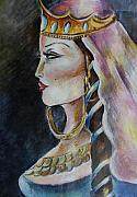 Khatuna Buzzell Metal Prints - Princess of Georgia Metal Print by Khatuna Buzzell
