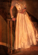 Satin Dress Prints - Princess on Stairway Print by Jill Battaglia