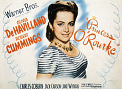 Striped Shirt Posters - Princess Orourke, Olivia De Havilland Poster by Everett