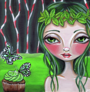 Surreal Art Paintings - Princess Peppermint by Jaz Higgins