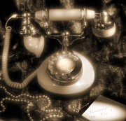 Pearl Necklace Art - Princess Phone by Mike McGlothlen